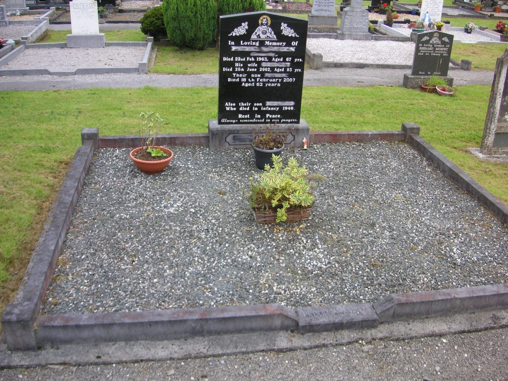 Before picture of grave plot