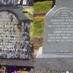 Headstone cleaning service example from Leonard Monumentals