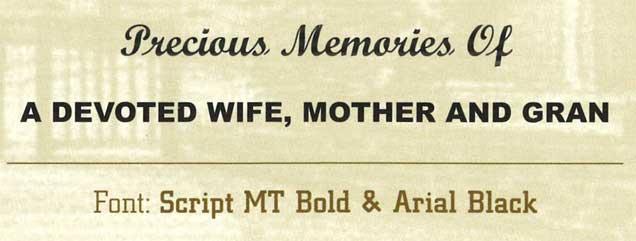Grave Headstone Inscriptions Cavan | Leonard Monumental Masons