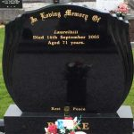 new headstone with inscription provided by leonard monumentals